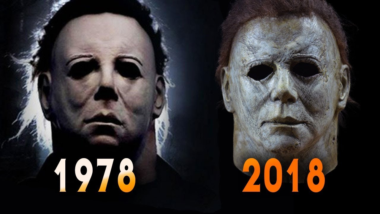 halloween 1978 and 2018 michael myers mask comparison | full mask