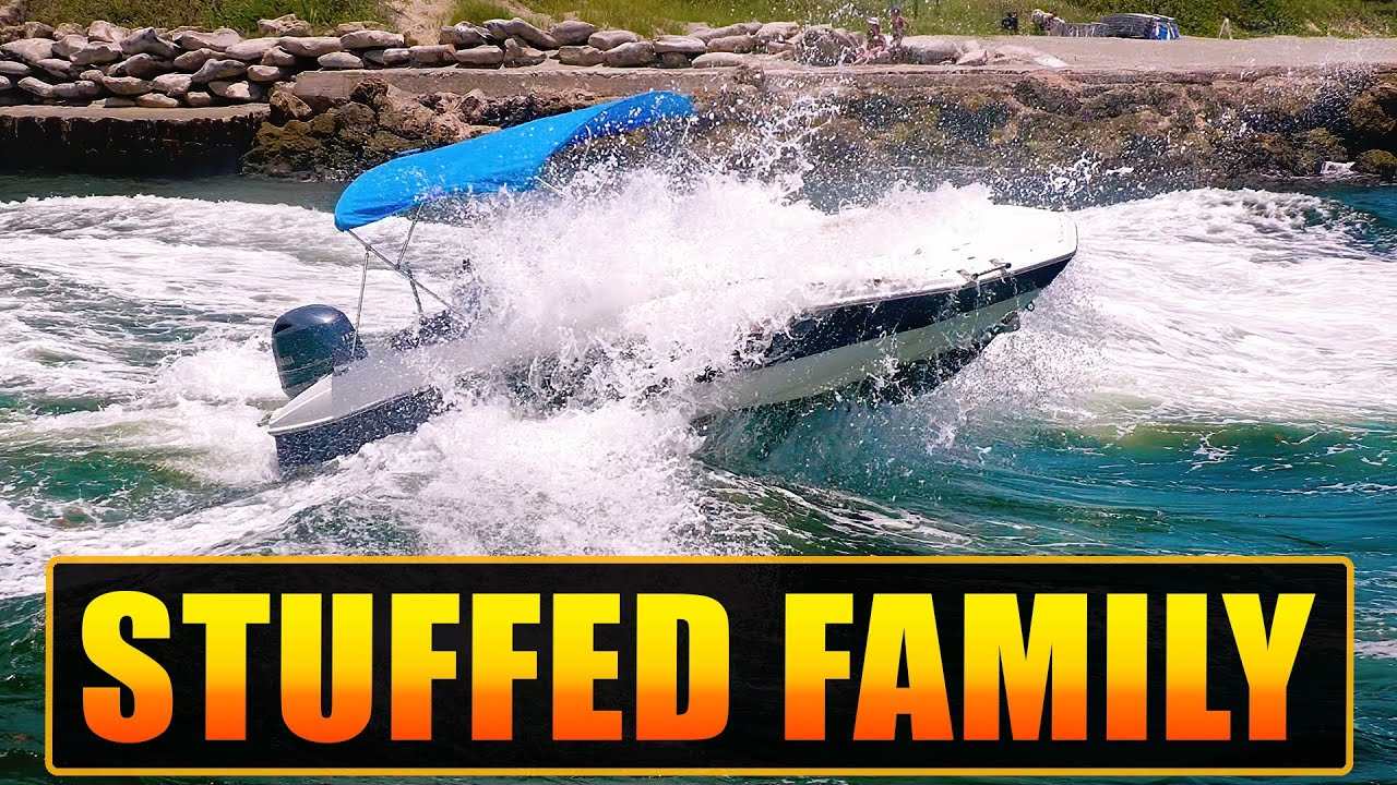 NOOB CAPTAIN STUFFS THE FAMILY INTO WAVE AT BOCA INLET !! | BOATS AT HAULOVER INLET | WAVY BOATS