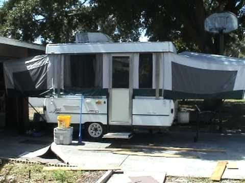 Pop up camper modifications part 1 youtube for Popup house youtube