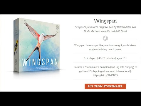 Walkthrough for Wingspan by Stonemaier Games! |