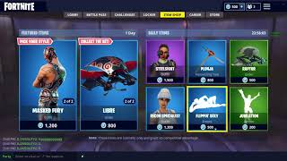 FORTNITE *NEW* MASKED FURY AND DYNAMO SKINS!!! 'NEW' PILEDRIVER PICKAXE AND LIBRE GLIDER!!