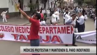 MÉDICOS PROTESTAN Y MANTIENEN PARO INDEFINIDO