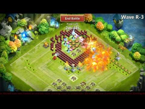 Castle Clash - Farming HBM R With 7/9 Skill Heroes :)