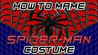 how to make a spider man costume part 1