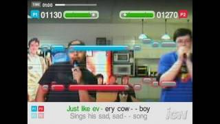 SingStar Amped PlayStation 2 Gameplay - Jeff and Greg: