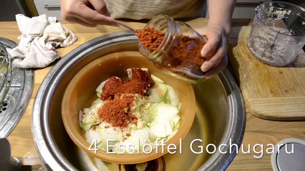 Kohlrabi Kimchi selber...
