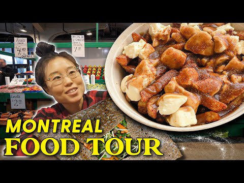 CANADIAN MARKET TOUR 🍟 Ft Poutine In Montreal
