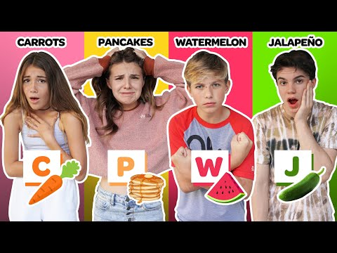 Last To Stop EATING FOOD In The LETTER OF YOUR NAME **FUNNY Challenge**🥕🍉| Piper Rockelle