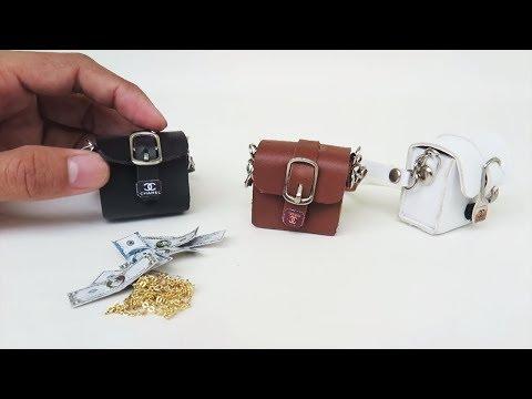 Miniature Handbags -  Barbie/ Doll BAGS Tutorial  // Purse // accessories for dolls