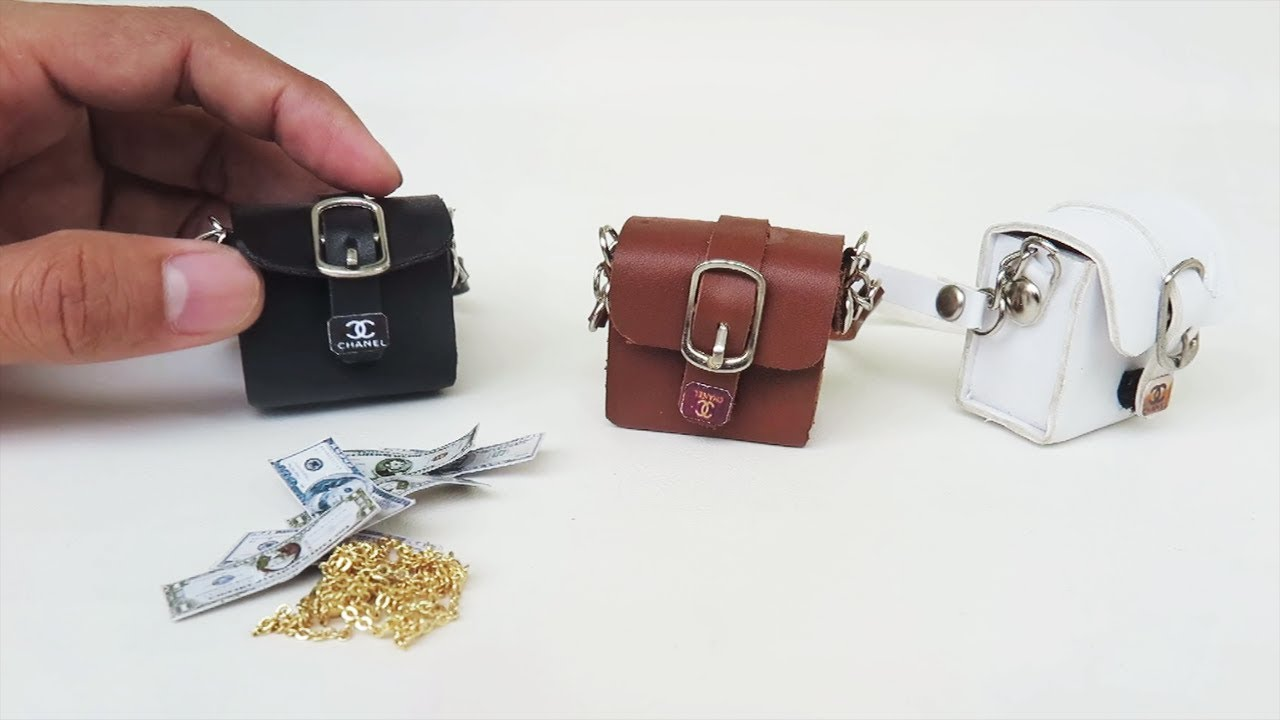 Miniature Handbags Barbie Doll Bags Tutorial Purse Accessories For Dolls