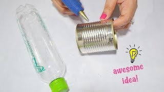 Best Reuse Idea With Tin Can and Plastic Bottle| How To Recycle Tin Can And Plastic Bottle