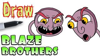 How to Draw the Blaze Brothers | Cuphead