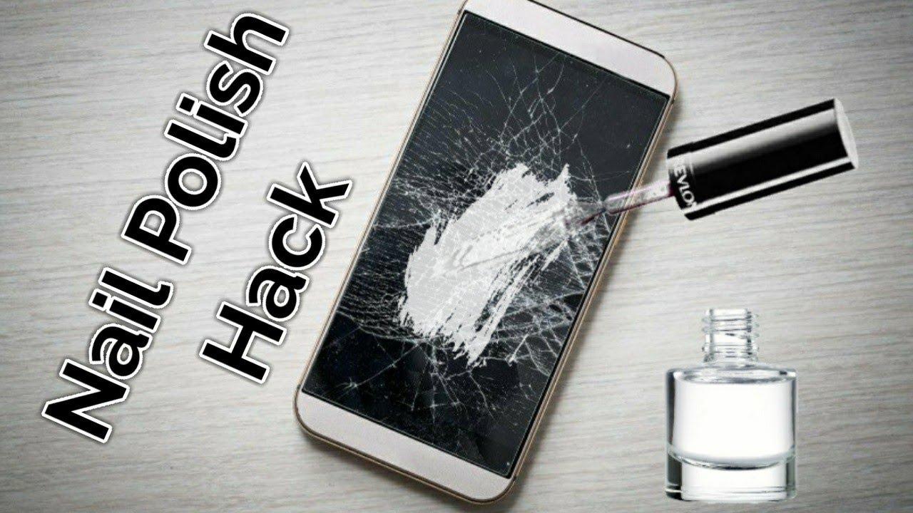 Repair A Phone Screen with Nail Polish - YouTube