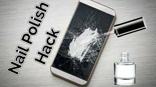 Repair A Phone Screen with Nail Polish