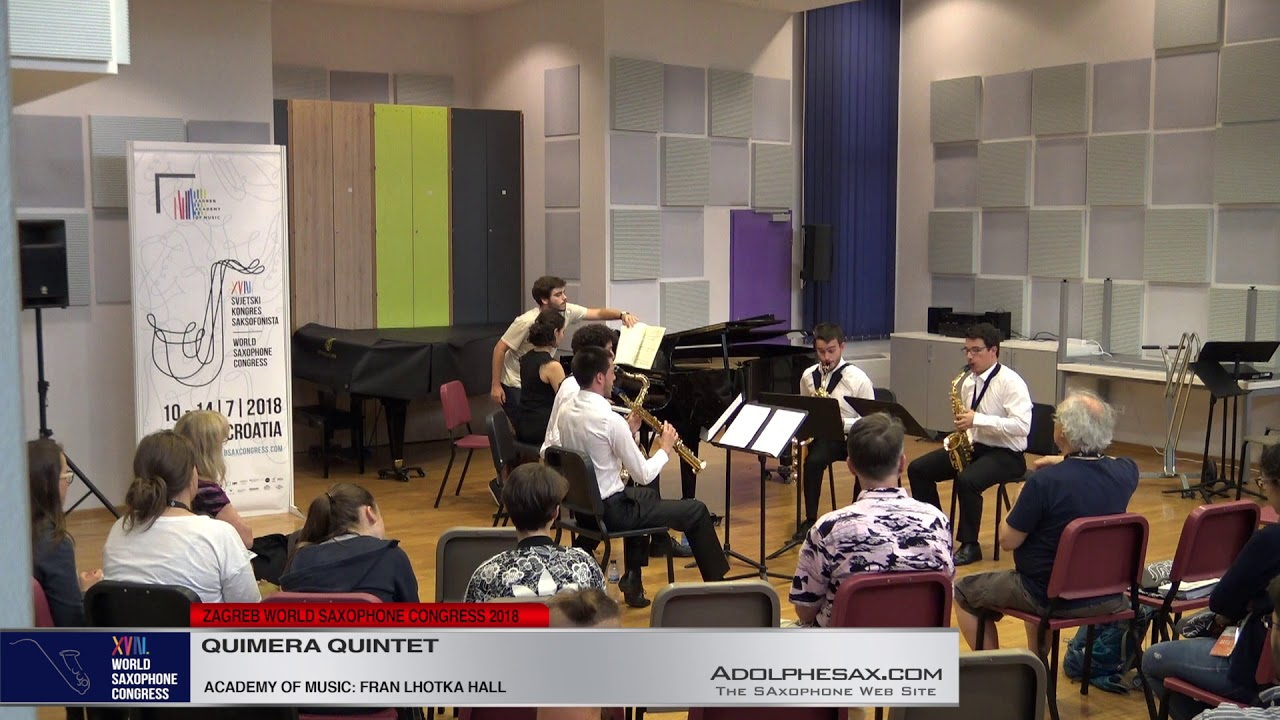 Piano Quintet in F Minor by Ce?sar Franck    Quimera Quintet   XVIII World Sax Congress 2018 #adolph