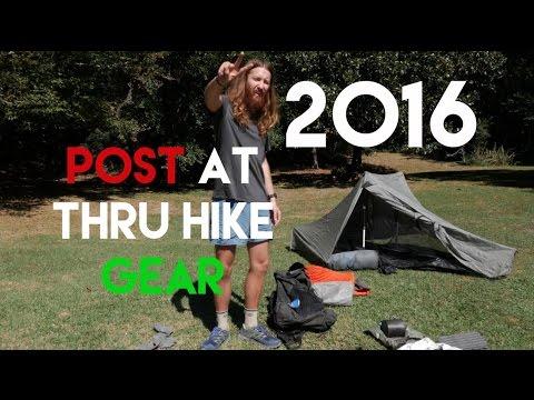 My POST 2016 AT Thru Hike Gear – I DID IT!