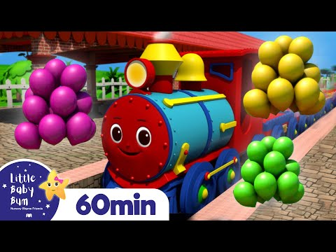 Color Balloon Train Song | +More Nursery Rhymes and Kids Songs | Little Baby Bum