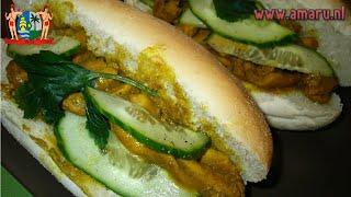 Food & The Single Guy - 018 - Broodje Kip Kerrie (chicken Masala Sandwich Roll)