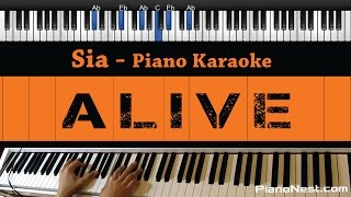 Sia - Alive - Piano Karaoke / Sing Along / Cover with Lyrics