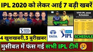 IPL 2020 - 7 Big Good \u0026 Bad News on IPL 2020   RR Bad News,New Title Sponsor,CSK Training Camp