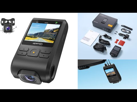 APEMAN C550 Dash Camera Car 1080P Unboxing Testing