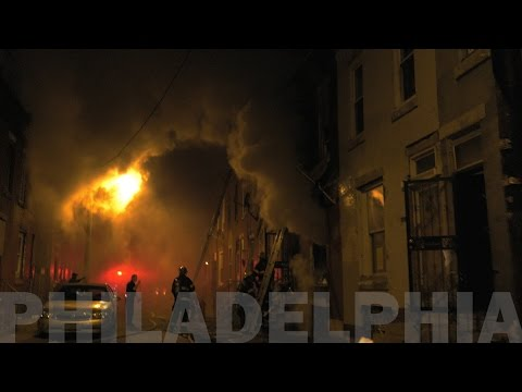 Philly Firefighters rescue man from burning home 03/25/17