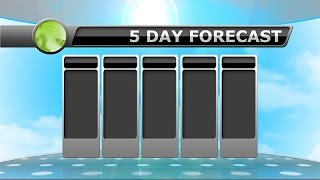 5 Day Forecast - September 14, 2016