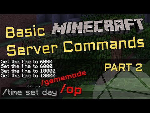 How To Use Commands On Your Minecraft Server [Part 2]