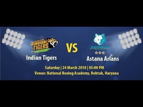 Indian Tigers Vs Astana Arlans at the National Boxing Academy, Rohtak, Haryana