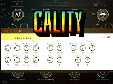 CALITY Midi Manipulator - AUv3 - Tutorial for the iPad