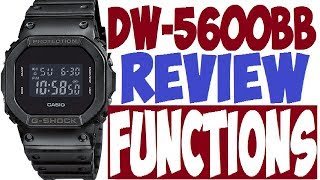 Casio DW-5600BB Functions G-Shock manual 3229