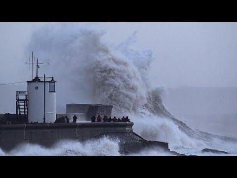 Storm Eleanor lashes Ireland, UK and France