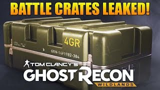 BATTLE CRATES LEAKED! | Ghost Recon Wildlands PVP Battle Crates Coming?