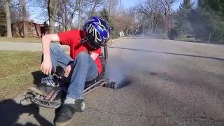 Mini Go Kart Top Speed and Burnout + Mini Bike Surprise