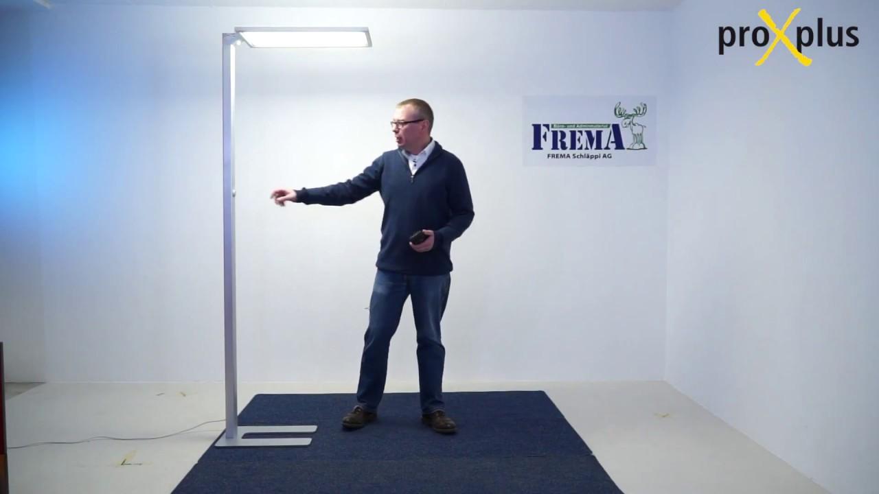 Proxplus Led Buro Stehlampe Mit Sensoren Youtube