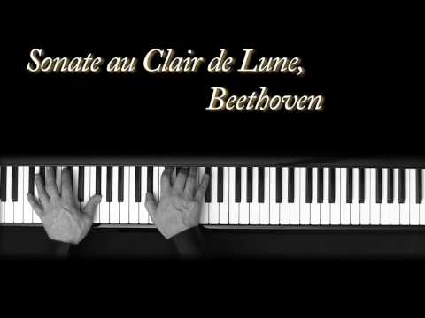 Au Clair de Lune - Beethoven - piano - Moonlight Sonata - Piano sonata n°14 Op.24 No. 2