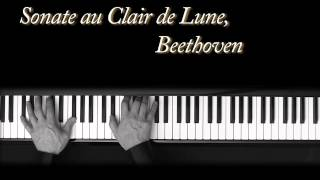 Au Clair de Lune - Beethoven - piano - Moonlight Sonata - piano sonata n°14