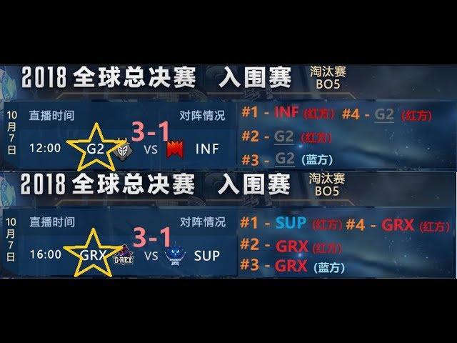 ?S8??????G2 vs INF | GRX vs SUP????? ??? BO5