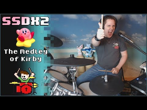 THE MEDLEY OF KIRBY SSDX2 On Drums! -- The8BitDrummer