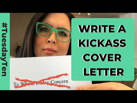 How To Write A Kickass Cover Letter Youtube