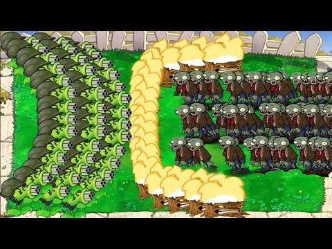99999 Basic Zombie vs 999 Gatling Pea Epic PvZ Hack
