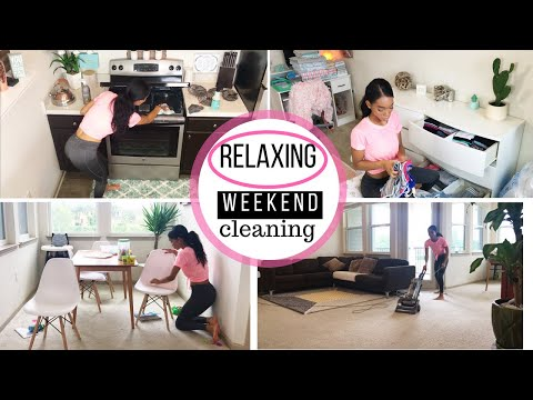 RELAXING WEEKEND CLEANING ROUTINE // CLEANING MOTIVATION // CLEAN WITH ME // SAHM
