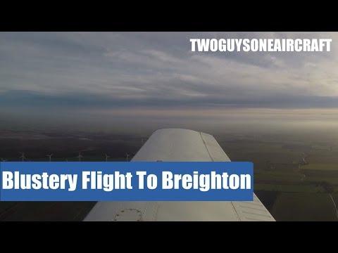 PA38 ✈ A blustery flight to Breighton ✈ Kristen and Jordan ✈