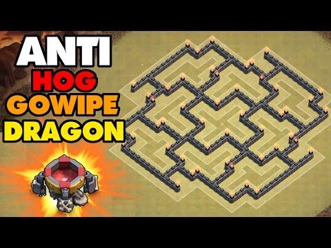 Clash Of Clans | Town Hall 8 (TH8) War Base Defense Strategy! | Anti Hog Anti Dragon Anti GoWiPe