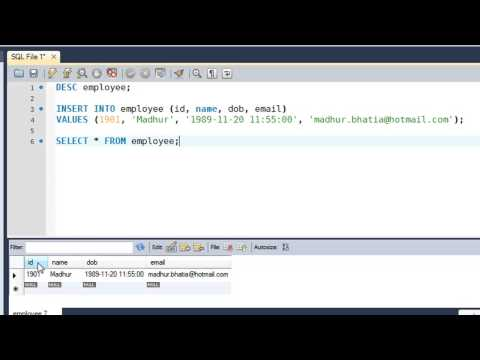 SQL Tutorial - 12: Inserting Data Into Tables - YouTube