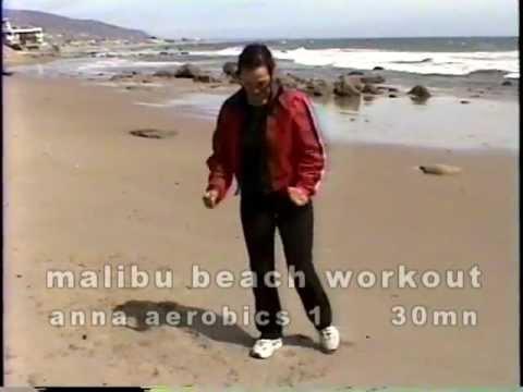 malibu beach workout-30mn anna aerobics  at malibu beach