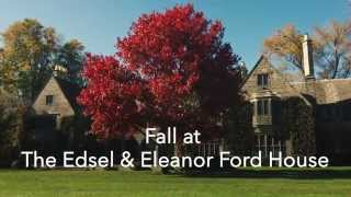 Fall is a wonderful time of year to explore the historic edsel & eleanor ford house in grosse pointe shores, mich. see colorful trees reflecting their go...