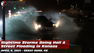 Overnight Storms Flood Streets - 4/6/2021 Great Bend, KS
