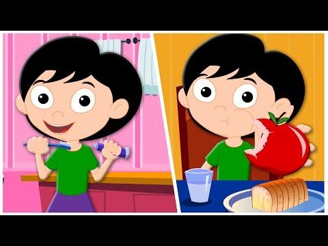 daily routines song original song nursery rhymes kids songs  childrens rhymes kids tv S02 EP0217