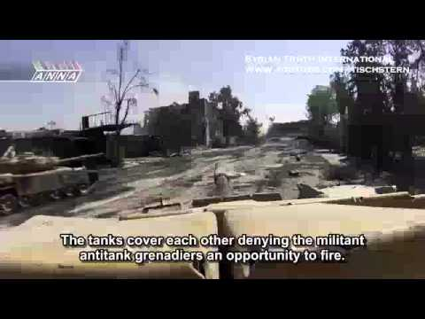 100 Minutes Raw Footage of battle near Damascus - Jihadi Sex rooms, underground tunnels & tank units